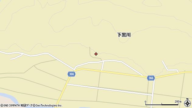 山形県酒田市下黒川水上100周辺の地図