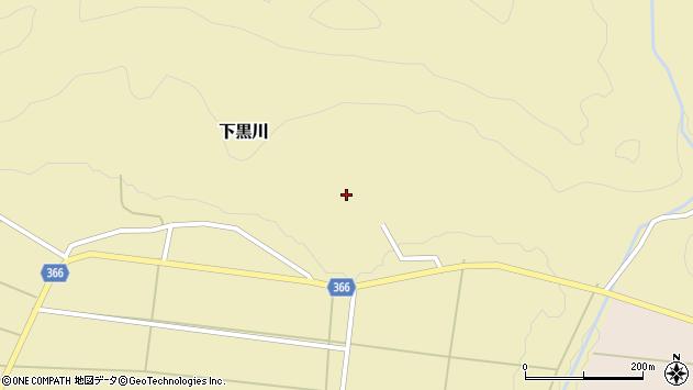 山形県酒田市下黒川楯坂周辺の地図