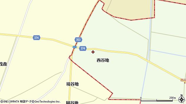 山形県酒田市千代田西谷地166周辺の地図