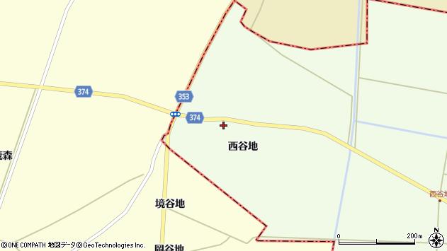 山形県酒田市千代田西谷地109周辺の地図