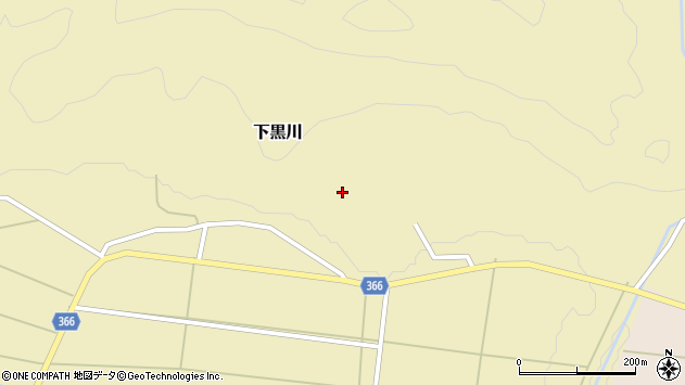 山形県酒田市下黒川楯坂51周辺の地図