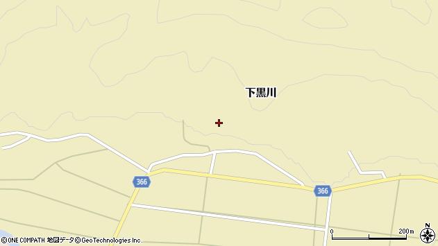 山形県酒田市下黒川水上120周辺の地図