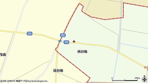 山形県酒田市千代田西谷地217周辺の地図