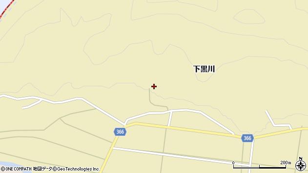 山形県酒田市下黒川水上102周辺の地図