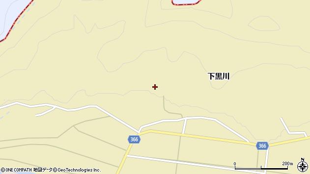 山形県酒田市下黒川水上94周辺の地図