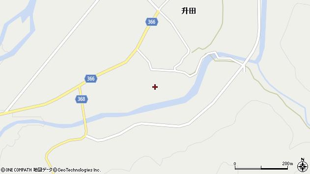 山形県酒田市升田東向26周辺の地図