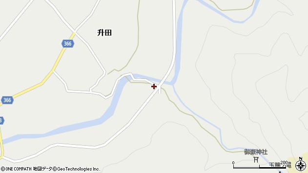 山形県酒田市升田前田52周辺の地図