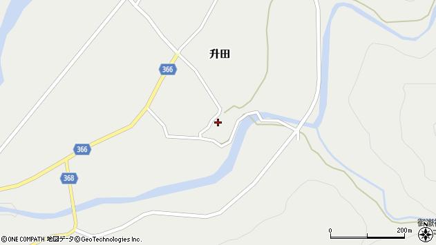 山形県酒田市升田東向52周辺の地図