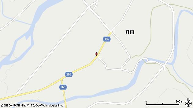 山形県酒田市升田野向22周辺の地図