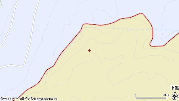 山形県酒田市下黒川大平周辺の地図