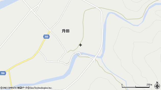 山形県酒田市升田東向65周辺の地図