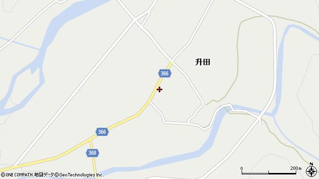 山形県酒田市升田野向14周辺の地図