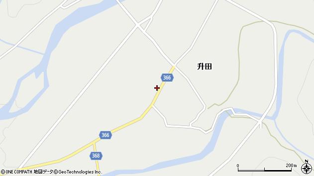 山形県酒田市升田野向18周辺の地図