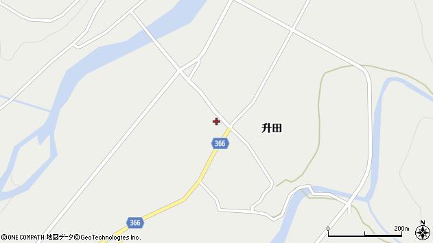 山形県酒田市升田野向55周辺の地図
