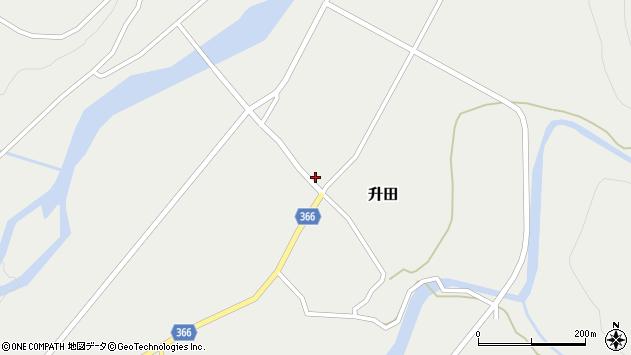 山形県酒田市升田大石3周辺の地図