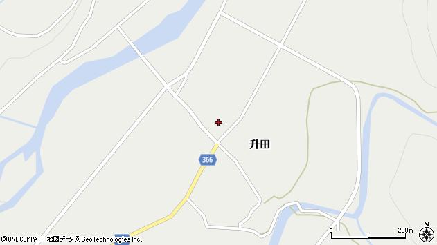 山形県酒田市升田大石7周辺の地図
