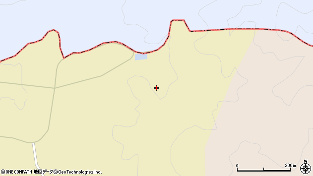 山形県酒田市下黒川谷地田周辺の地図