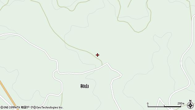 岩手県気仙郡住田町世田米和山周辺の地図