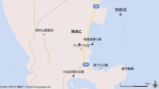 山形県酒田市飛島勝浦乙4周辺の地図