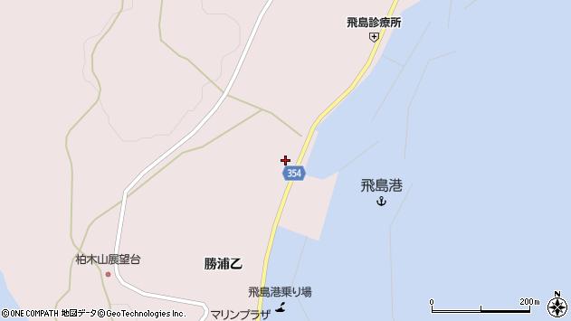 山形県酒田市飛島勝浦乙144周辺の地図