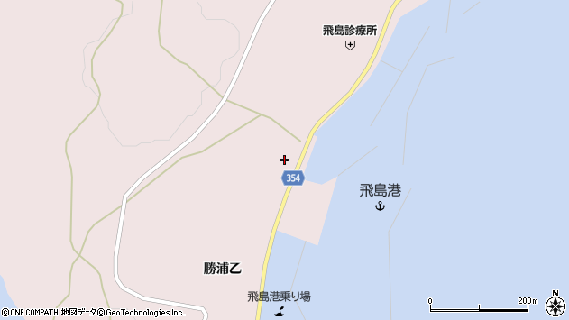 山形県酒田市飛島勝浦乙145周辺の地図