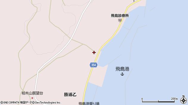 山形県酒田市飛島勝浦乙156周辺の地図