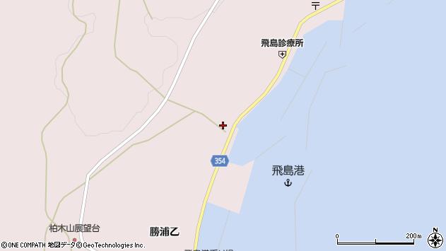 山形県酒田市飛島勝浦乙157周辺の地図