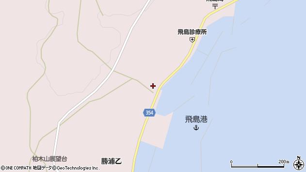 山形県酒田市飛島勝浦甲4周辺の地図