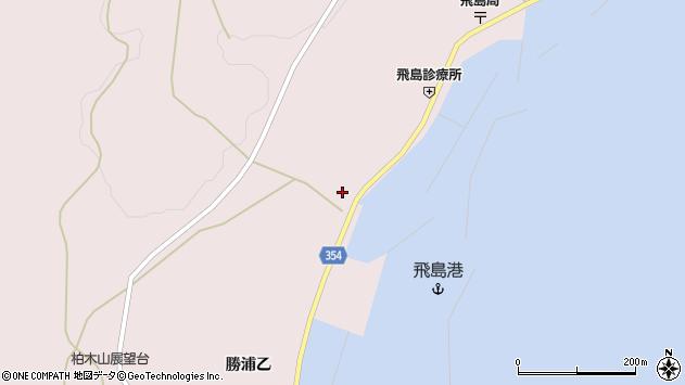 山形県酒田市飛島勝浦甲8周辺の地図