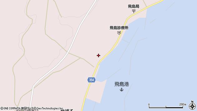 山形県酒田市飛島勝浦甲16周辺の地図