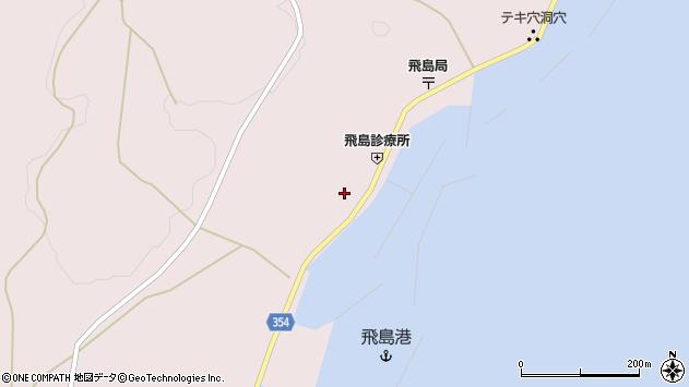 山形県酒田市飛島周辺の地図