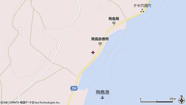 山形県酒田市飛島勝浦甲周辺の地図