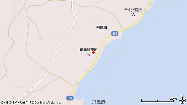 山形県酒田市飛島勝浦甲65周辺の地図