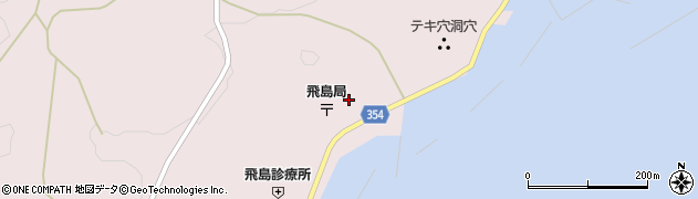 山形県酒田市飛島勝浦甲96周辺の地図