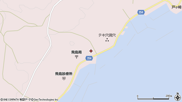 山形県酒田市飛島勝浦甲108周辺の地図