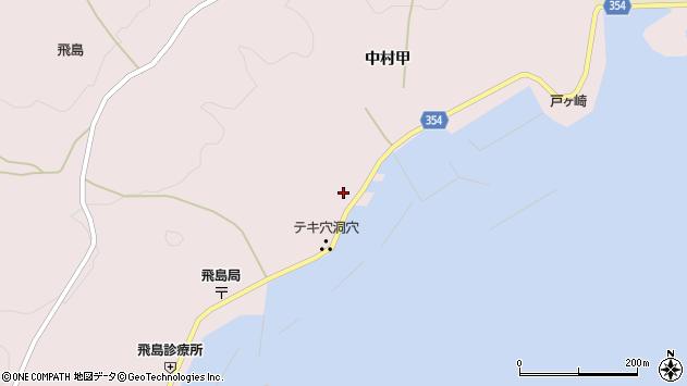 山形県酒田市飛島中村甲24周辺の地図