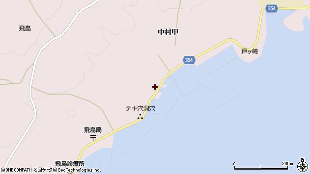 山形県酒田市飛島中村甲39周辺の地図
