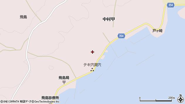 山形県酒田市飛島中村甲29周辺の地図
