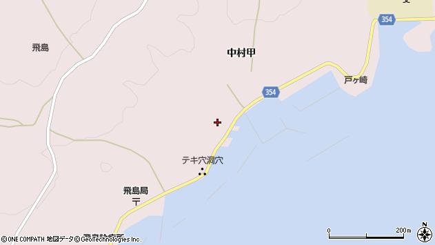 山形県酒田市飛島中村甲42周辺の地図