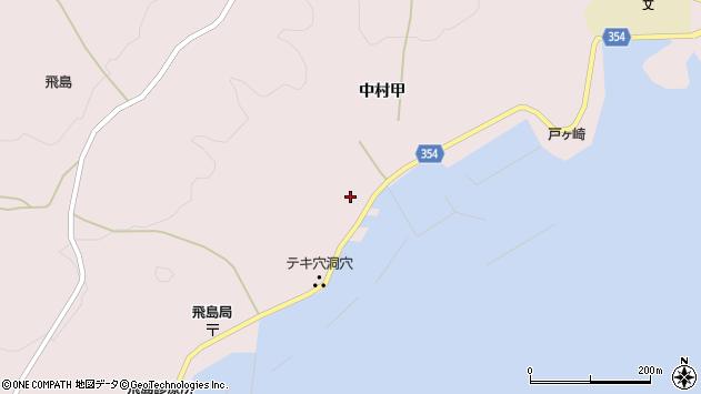 山形県酒田市飛島中村甲43周辺の地図