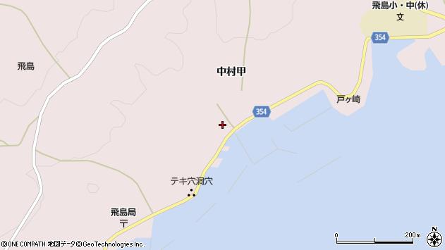 山形県酒田市飛島中村甲49周辺の地図