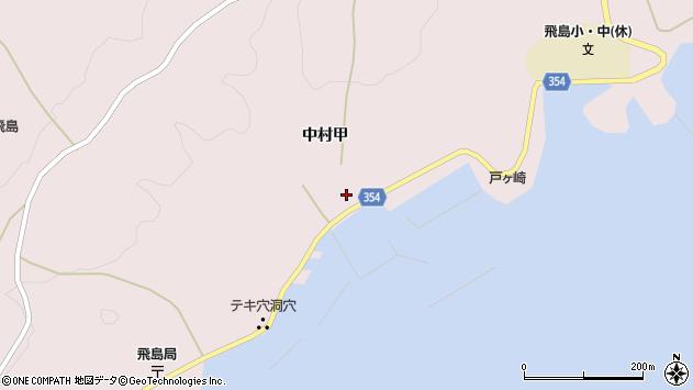 山形県酒田市飛島中村甲58周辺の地図