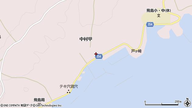 山形県酒田市飛島中村甲62周辺の地図