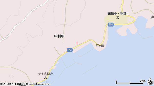 山形県酒田市飛島中村甲78周辺の地図
