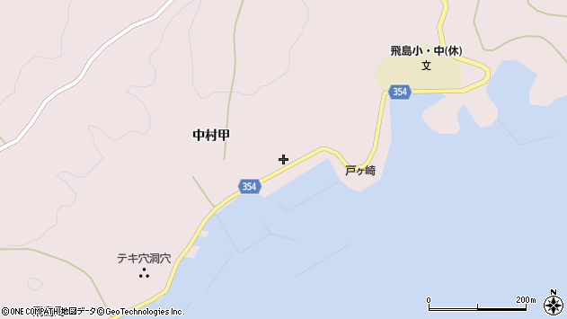 山形県酒田市飛島中村甲82周辺の地図
