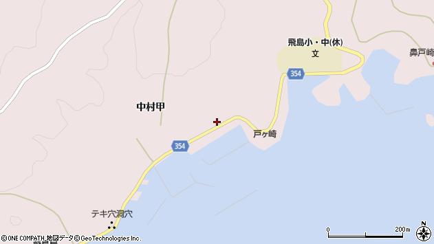 山形県酒田市飛島中村甲86周辺の地図