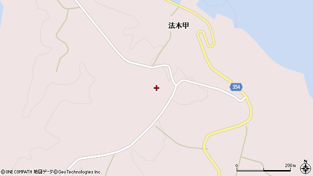 山形県酒田市飛島法木乙1周辺の地図