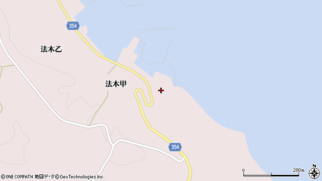 山形県酒田市飛島法木甲98周辺の地図