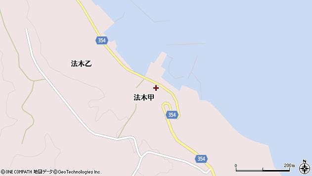山形県酒田市飛島法木甲周辺の地図