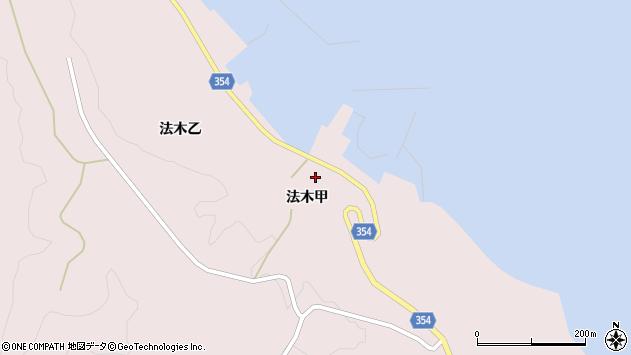 山形県酒田市飛島法木甲87周辺の地図